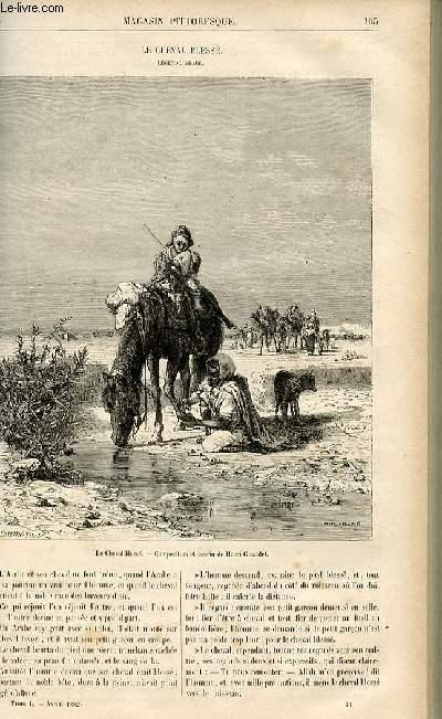 LE MAGASIN PITTORESQUE - Livraison n°14 - Le cheval blessé, légende arabe.