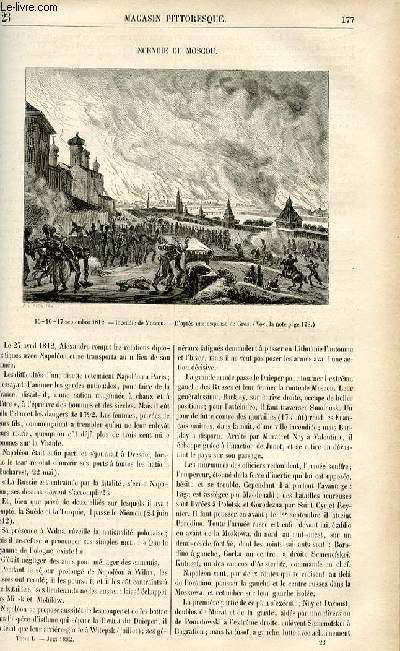 LE MAGASIN PITTORESQUE - Livraison n°23 - Incendie de Moscou.