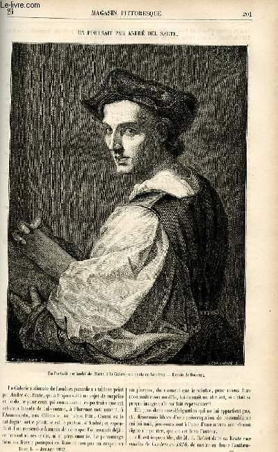 LE MAGASIN PITTORESQUE - Livraison n°26 - Un portrait par André del Sarte.