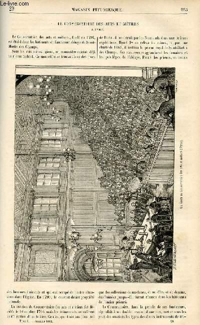 LE MAGASIN PITTORESQUE - Livraison n°29 - Le conservatoire des Arts et Métiers à Paris.