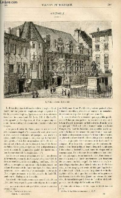 LE MAGASIN PITTORESQUE - Livraison n°33 - grenoble (Isère).