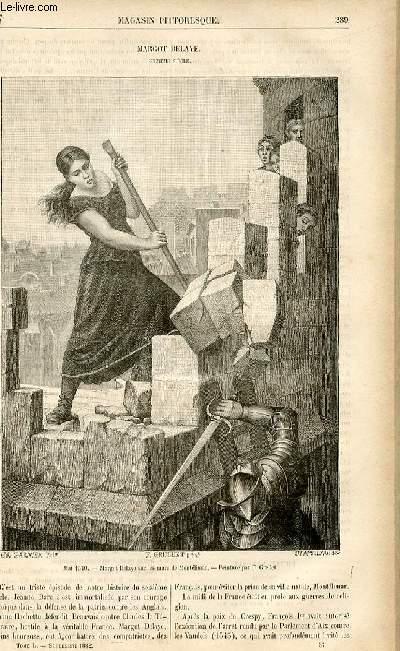 LE MAGASIN PITTORESQUE - Livraison n°37 - Margot Delaye , seizième siècle.