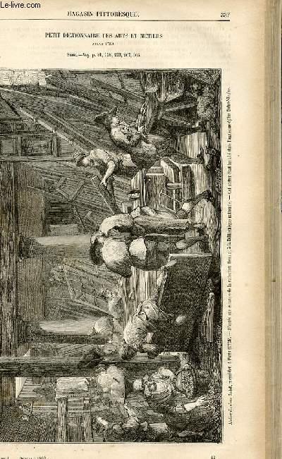 LE MAGASIN PITTORESQUE - Livraison n°43 - Petit dictionnaire des arts et métiers avant 1789,suite -  - ménétriers, ménestrels.