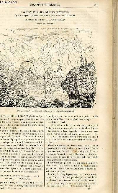 LE MAGASIN PITTORESQUE - Livraison n°46 - Esquisses et pages inédites de Topffer - un séjour de Topffer à Lavey (Suisse).