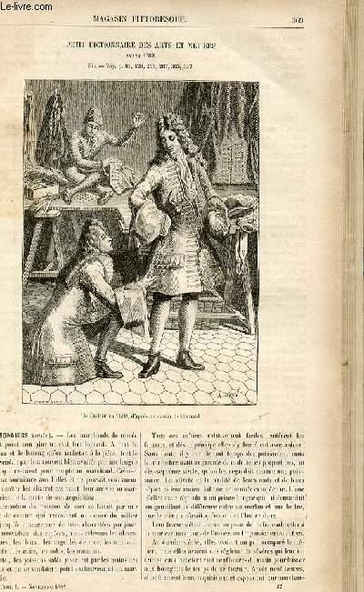 LE MAGASIN PITTORESQUE - Livraison n°47 - Petit dictionnaire des arts et métiers avant 1789 - suite et fin - POissoniers, suite.