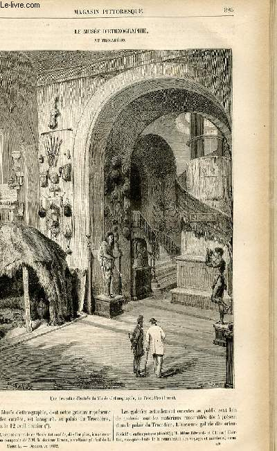 LE MAGASIN PITTORESQUE - Livraison n°49 - Le musée d'ethnographie au Trocadéro.