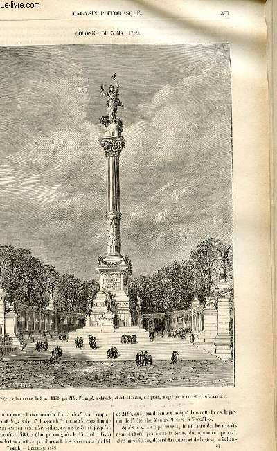 LE MAGASIN PITTORESQUE - Livraison n°51 - Colonne du 5 mai 1789.