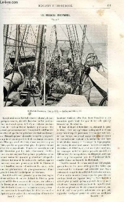 LE MAGASIN PITTORESQUE - Livraison n°10 - Les dragages sous-marins.