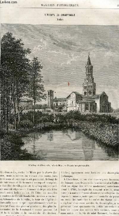 LE MAGASIN PITTORESQUE - Livraison n°14 - L'abbaye de Chiaravalle (italie).