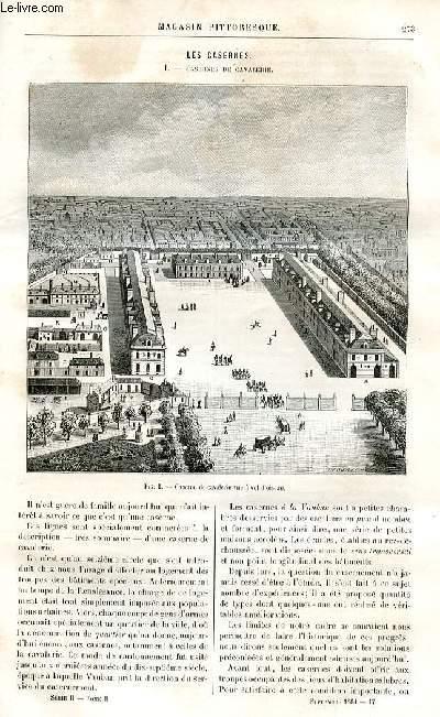 LE MAGASIN PITTORESQUE - Livraison n°17 - Les casernes - casernes de cavalerie.
