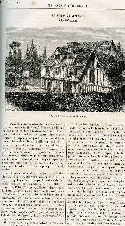 LE MAGASIN PITTORESQUE - Livraison n°18 - La maison de Corneille à Petite Couronne.