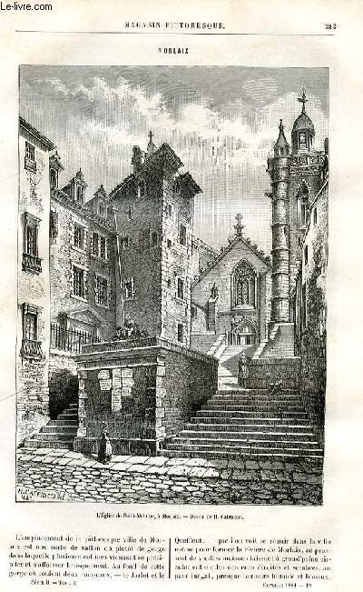 LE MAGASIN PITTORESQUE - Livraison n°19 - Morlaix.