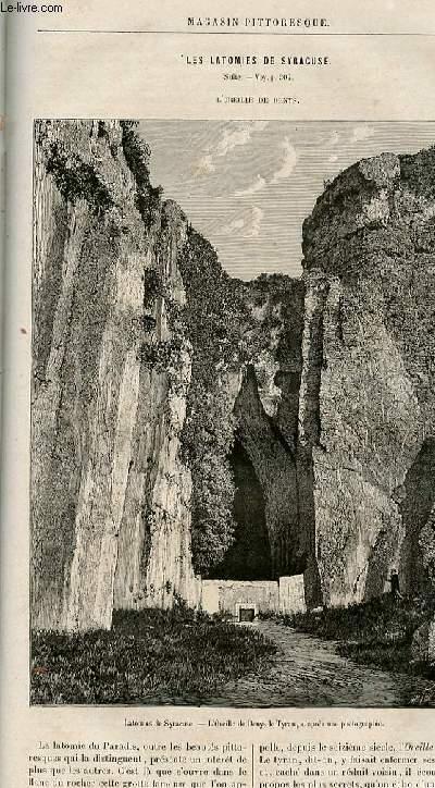 LE MAGASIN PITTORESQUE - Livraison n°21 - Les latomies de Syracuse , suite - L'oreille de Denys.