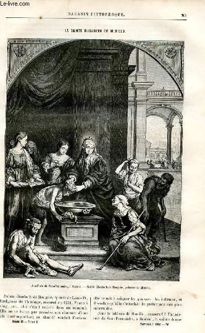 LE MAGASIN PITTORESQUE - Livraison n°22 - La Sainte elisabeth de Murillo.