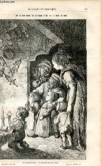 LE MAGASIN PITTORESQUE - Livraison n°23 - Un dessin inédit de Gustave doré - La nuit de Noël.