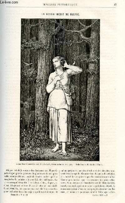LE MAGASIN PITTORESQUE - Livraison n°02 - Un dessin indédit de Gleyre, par Ed. S.