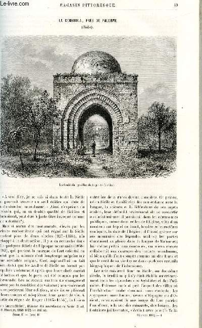 LE MAGASIN PITTORESQUE - Livraison n°04 - La coubbola, près de Palerme, Sicile, par G.Lafaye.