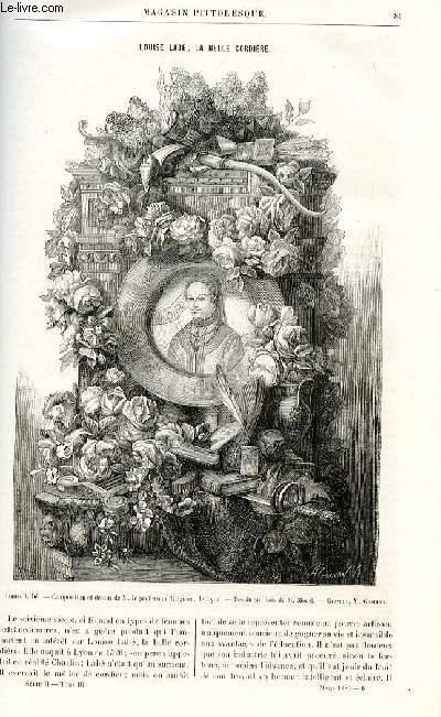 LE MAGASIN PITTORESQUE - Livraison n°06 - Louise Labé, la belle cordière.