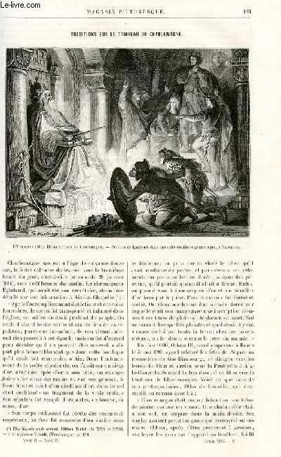 LE MAGASIN PITTORESQUE - Livraison n°08 - Traditions sur le tombeau de Charlemagne par M.P