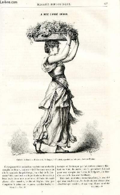 LE MAGASIN PITTORESQUE - Livraison n°09 - La muse d'André Chenier par Lesbazeilles.