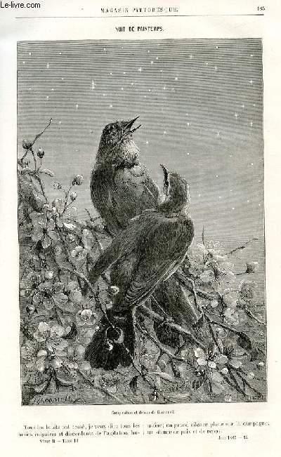 LE MAGASIN PITTORESQUE - Deux Livraisons n°12 et 13 - Nuit de printemps par Girardin.