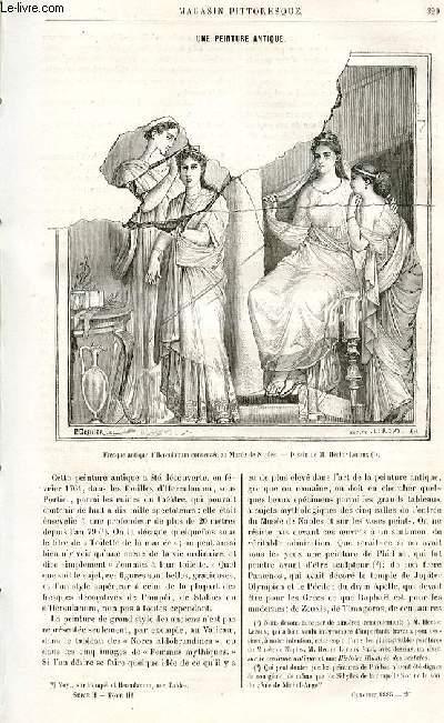 LE MAGASIN PITTORESQUE - Livraison n°20 - Une peinture antique par Ed. Ch.
