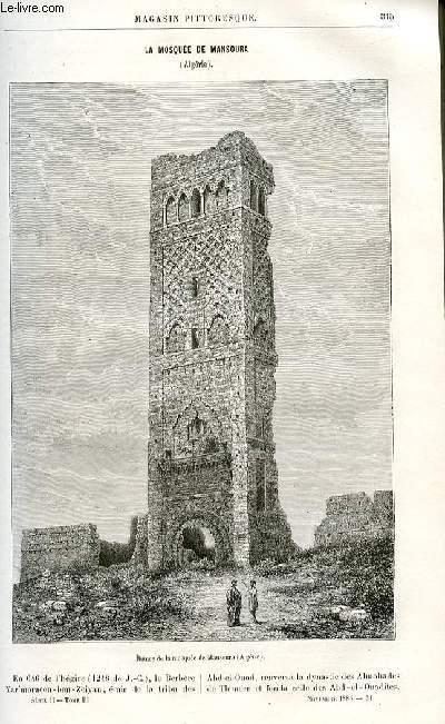 LE MAGASIN PITTORESQUE - Livraison n°21 - La mosquée de Mansoura (Algérie).