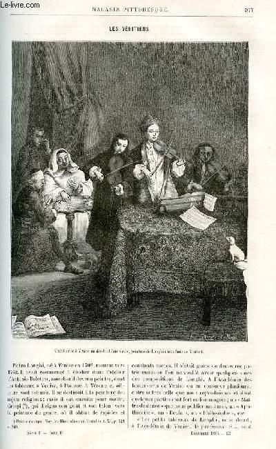 LE MAGASIN PITTORESQUE - Livraison n°23 - Les vénitiens par Ed. Charton.