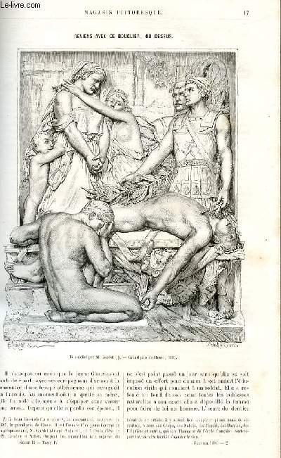 LE MAGASIN PITTORESQUE - Livraison n°02 - Reviens avec ce bouclier ou dessus (Glaucias - SParte) par Lafaye.