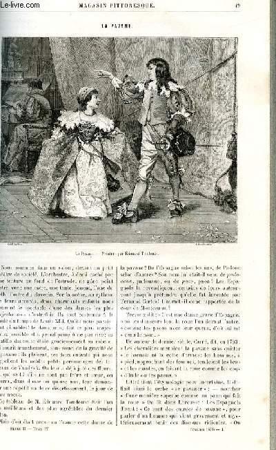 LE MAGASIN PITTORESQUE - Livraison n°04 - La pavane par Ed. Ch.