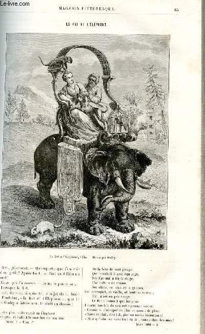 LE MAGASIN PITTORESQUE - Livraison n°05 - Le rat et l'éléphant.