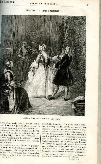 LE MAGASIN PITTORESQUE - Livraison n°09 - L'éducation des femmes d'autrefois par Lesbazeilles,à suivre.