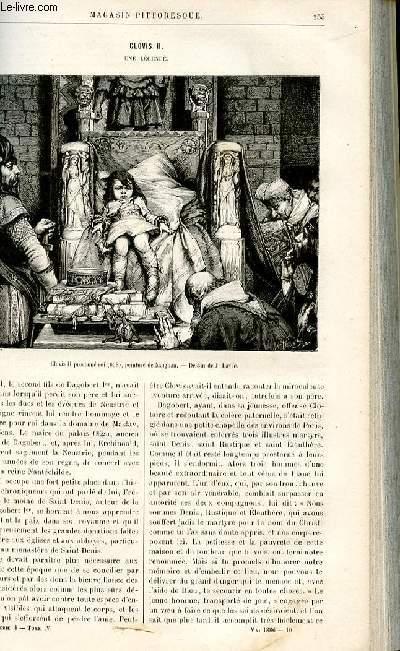 LE MAGASIN PITTORESQUE - Livraison n°10 - Clovis II, une légende par Lesbazeilles.
