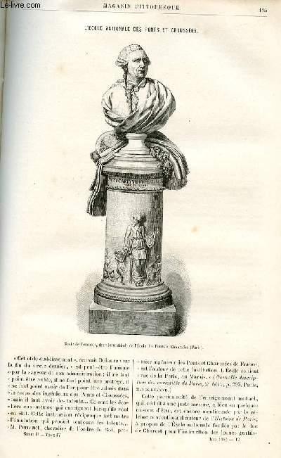 LE MAGASIN PITTORESQUE - Livraison n°12 - L'école nationale des Ponts et Chaussées par Léon lalanne.