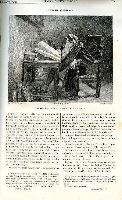 LE MAGASIN PITTORESQUE - Livraison n°14 - Le Faust de marlowe.