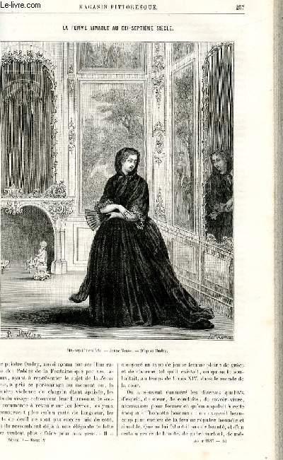 LE MAGASIN PITTORESQUE - Livraison n°16 - La femme aimable au 17ème sièclepar Lesbazeilles.