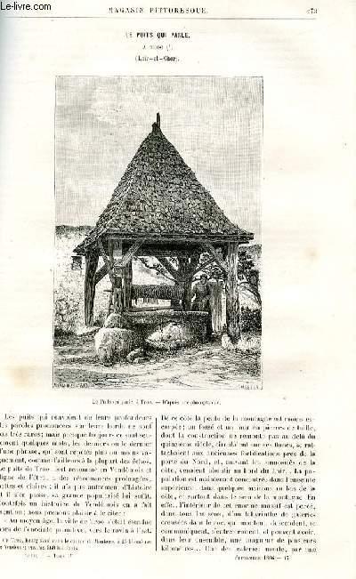 LE MAGASIN PITTORESQUE - Livraison n°17 - Le puits qui parle à Troo (Loir et Cher).