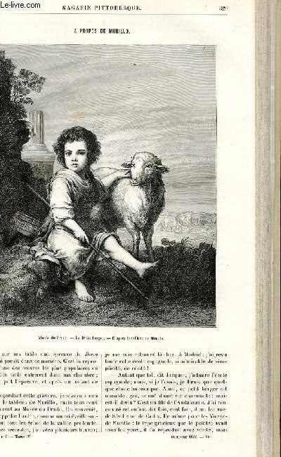 LE MAGASIN PITTORESQUE - Livraison n°20 - A propos de Murillo par Paul Laffitte.