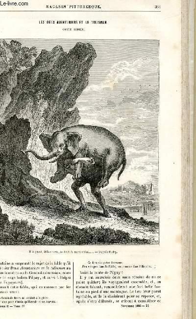 LE MAGASIN PITTORESQUE - Livraison n°22 - Les deux aventuriers et le talisman ,conte indien.