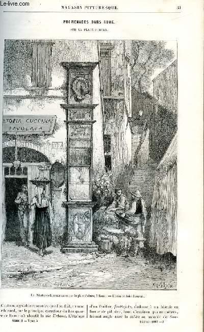 LE MAGASIN PITTORESQUE - Livraison n°03 - Promenades dans Rome sur la place Subura par Jules Laurens.