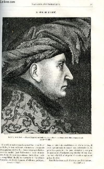 LE MAGASIN PITTORESQUE - Livraison n°06 - Le père du roi René par Henri Bouchot.