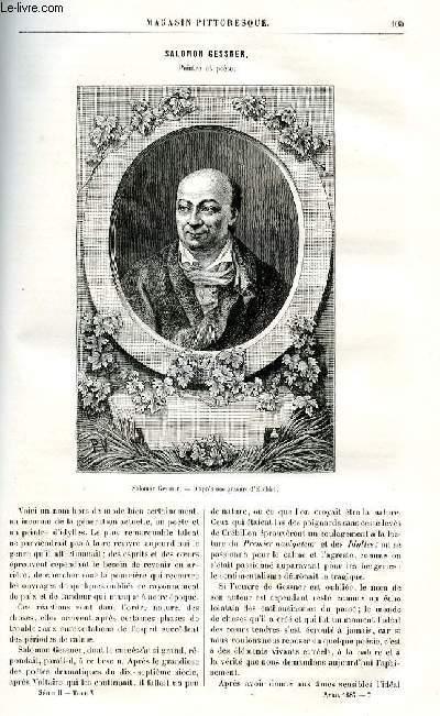 LE MAGASIN PITTORESQUE - Livraison n°07 - Salomon Gessner, peintre et poète par Bahcelin, à suivre.