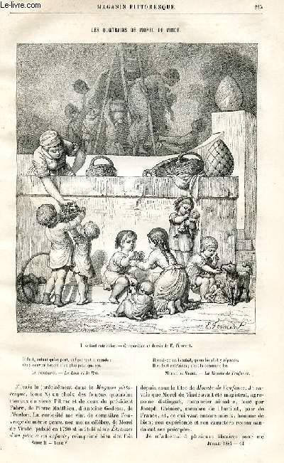 LE MAGASIN PITTORESQUE - Livraison n°14 - Les quatrains de Morel de Vinde par Lesbazeilles.