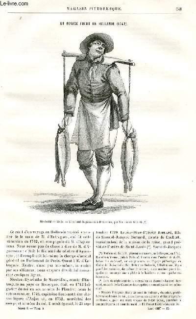 LE MAGASIN PITTORESQUE - Livraison n°15 - Un voyage inédit en Hollande (1742) par Lucien Merlet.