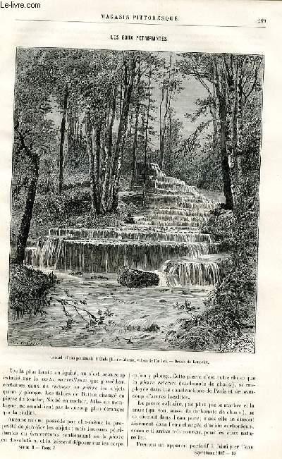 LE MAGASIN PITTORESQUE - Livraison n°18 - Les eaux pétrifiantes par Guignet.