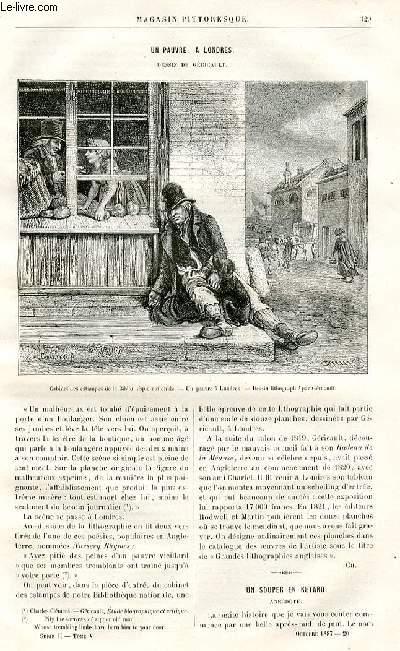 LE MAGASIN PITTORESQUE - Livraison n°20 - Un pauvre à Londres,à suivre.
