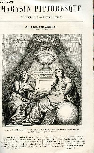 LE MAGASIN PITTORESQUE - Livraison n°01 - Le grand escalier des ambassadeurs au château de Versailles.