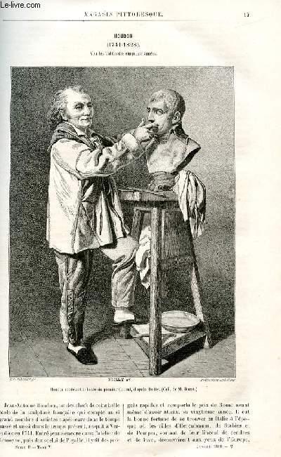 LE MAGASIN PITTORESQUE - Livraison n°02 - Houdon (1741-1828).