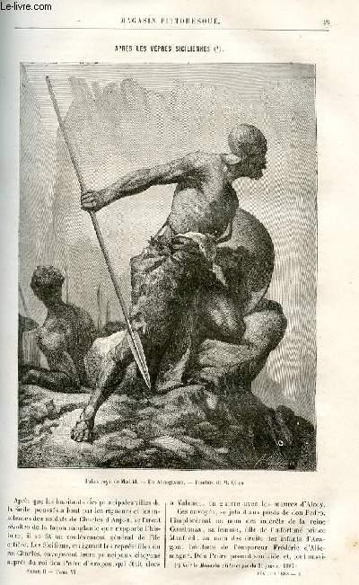 LE MAGASIN PITTORESQUE - Livraison n°04 - Après les vêpres siciliennes par Germond de Lavigne.