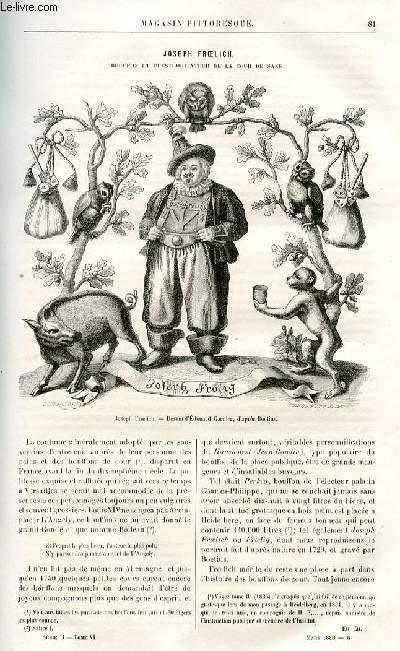 LE MAGASIN PITTORESQUE - Livraisons n°06 et 6bis - Joseph Froelich, bouffon et prestidigitateur de la cour de Saxe  par Edouard Garnier.
